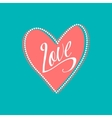 Wedding card with Love sign on turquoise vector image vector image