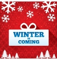 Winter is coming sale background Christmas sale vector image
