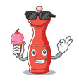 with ice cream pepper mill character cartoon vector image