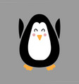 with penguin in flat style vector image vector image