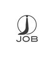 job with tie vector image