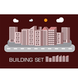 Building set red tone concept vector image