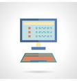 E-learning flat icon Online education vector image