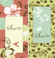 cute retro banners vector image