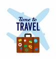 tourist travel banner vector image