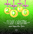 2016 Merry Christmas and Happy New Year vector image vector image