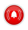 alarm icon vector image vector image