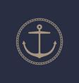 anchor emblem design vector image vector image