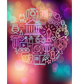 arts and entertainment icos on colorful vector image vector image
