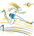 Athlete jumping sport vector image
