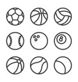 balls lines icons set vector image