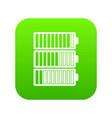 battery indicators icon digital green vector image