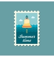 Bell marine flat stamp vector image vector image