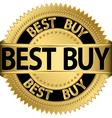 Best buy golden label vector image vector image