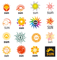 Big set of logos sun vector image