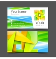 business card creative design template Corporate vector image
