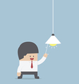 Businessman switching on light bulb Idea concept vector image
