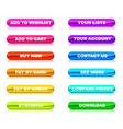 Buttons for internet shop vector image vector image