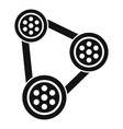 car timing belt icon simple style vector image