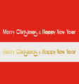 card with calligraphic lettering merry christmas vector image vector image