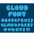 cartoon cloud font vector image vector image
