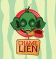 chamelion alien head vector image vector image