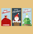christmas greeting card set merry christmas text vector image vector image