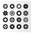 circle gears icons set vector image