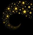 circular stream sparkling stars vector image vector image