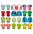 Collection of various shirts Design template The vector image vector image