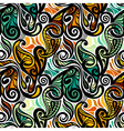 Colorful abstract seamless paisley pattern vector image