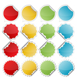 colorful bended stickers vector image vector image