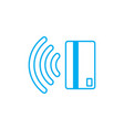 contactless payment icon near-field communication vector image vector image