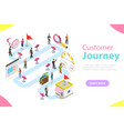 customer journey flat isometric vector image vector image