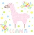 cute lama vector image