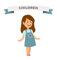 Cute little girl cute dress vector image vector image