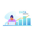 data analysis for increasing sales and revenue vector image vector image