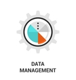 data management icon vector image vector image