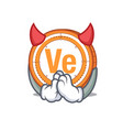 devil veritaseum coin mascot cartoon vector image vector image
