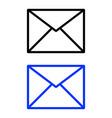 envelope glyph icon vector image vector image