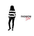 fashionable girl fashion silhouette of a girl vector image