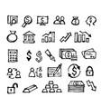 financial icon doodle hand drawn vector image vector image