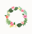 flowers wreath floral tropical collection with vector image vector image