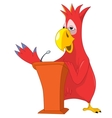 Funny Parrot Presentation vector image vector image