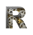 gears cutted figure r Paste to any background vector image
