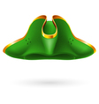 Green cocked hat vector image
