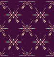 grunge seamless pattern with crossed ethnic vector image vector image