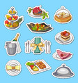 hand drawn restaurant or room service vector image vector image