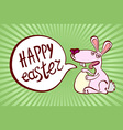 happy easter vintage lettering background vector image vector image
