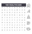 healthcare line icons signs set outline vector image vector image